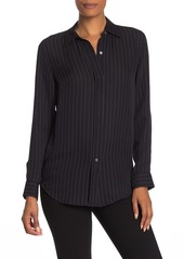 Theory Essential Striped Silk Shirt