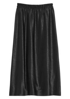 Theory Esy Satin Midi Skirt