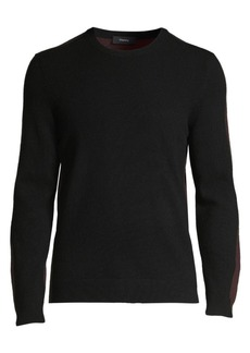 Theory Evers Long-Sleeve Colorblock Cashmere Sweater