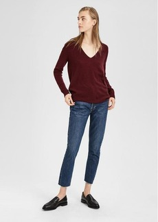 Theory Feather Cashmere V-Neck Sweater