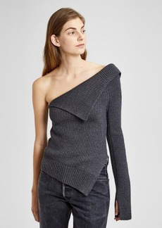 Theory Felted Knit Off-The-Shoulder Sweater