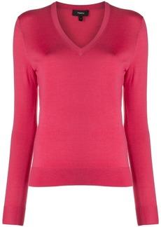 Theory fine knit v-neck jumper
