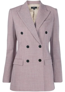 Theory fitted double buttoned blazer
