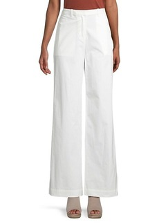 Theory Flat-Front Wide-Leg Trousers