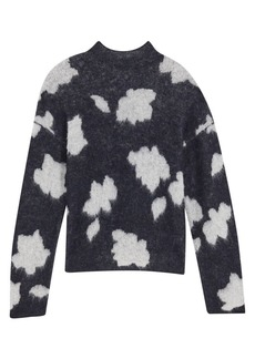 Theory Floral Alpaca-Blend Sweater