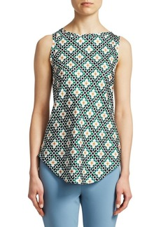 Theory Floral Print Racer Top