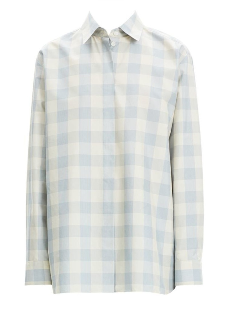 Theory Fuji Check Button-Down Shirt