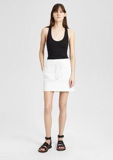 Theory Garment-Dyed Twill Stitched Pocket Mini Skirt