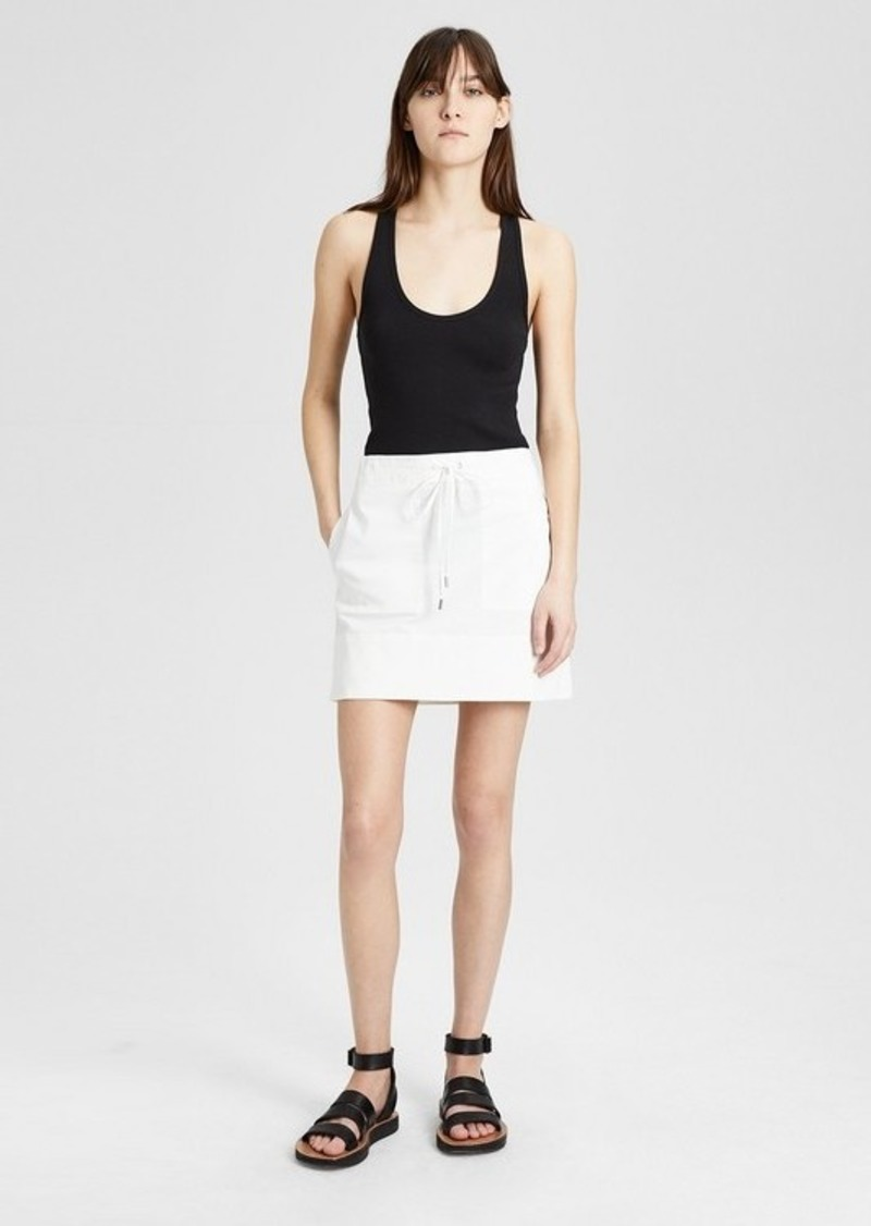 b05fdacdf2 Theory Garment-Dyed Twill Stitched Pocket Mini Skirt | Skirts