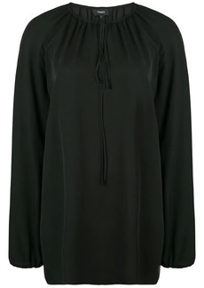 Theory gathered neck blouse