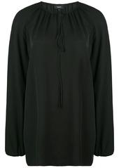 Theory gathered neck blouse