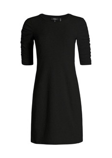 Theory Gathered Sleeve Sheath Dress