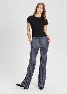 Theory Geometric Wool Flare Pant