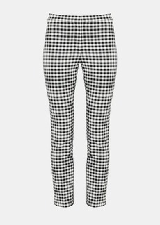 Theory Gingham Classic Skinny Pant
