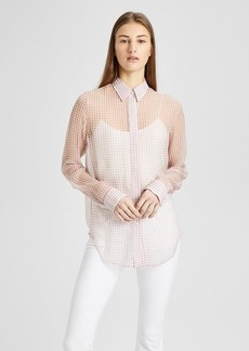 Theory Gingham Essential Button-Down