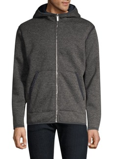 Theory Glacial Fleece Zip-Up Hoodie