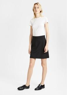 Theory Good Wool High-Waisted Mini Skirt