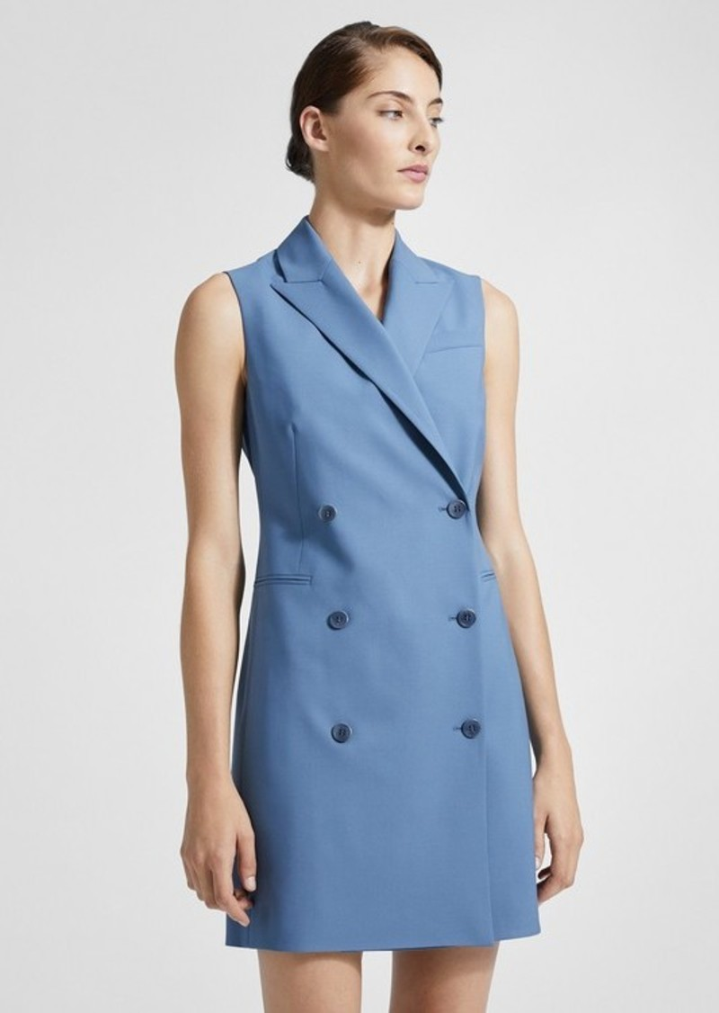 Theory Good Wool Sleeveless Blazer Dress