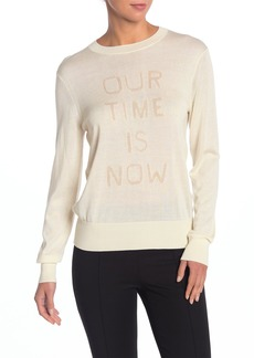 Theory Graphic Silk & Cashmere Blend Pullover