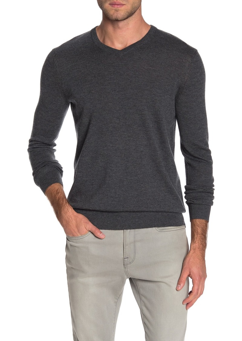 Theory Harman Rinland Wool Blend V-Neck Sweater