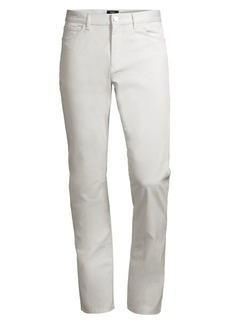 Theory Hayden Rinsed Writer Stretch Cotton Trousers