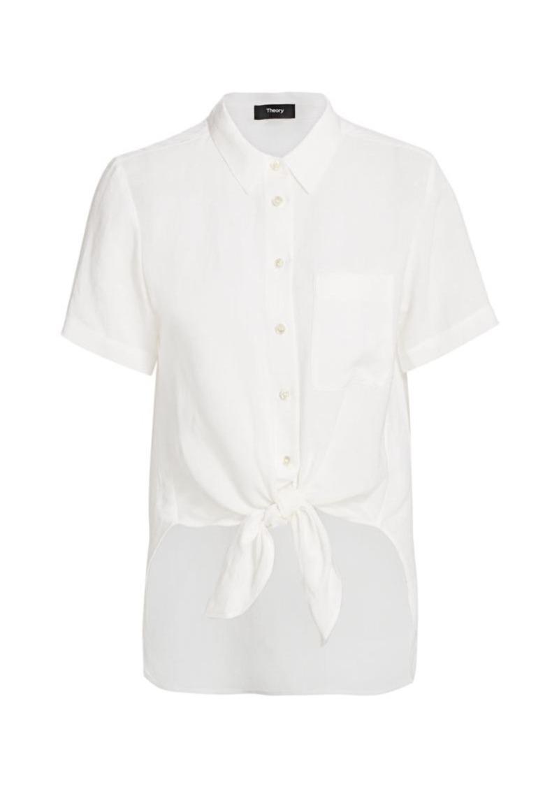 Theory Hekanina Linen-Blend Shirt