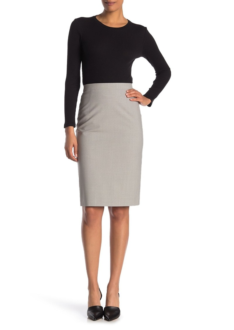 Theory Hemdall Solid Wool Blend Skirt