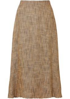 Theory Herringbone Tweed Midi Skirt