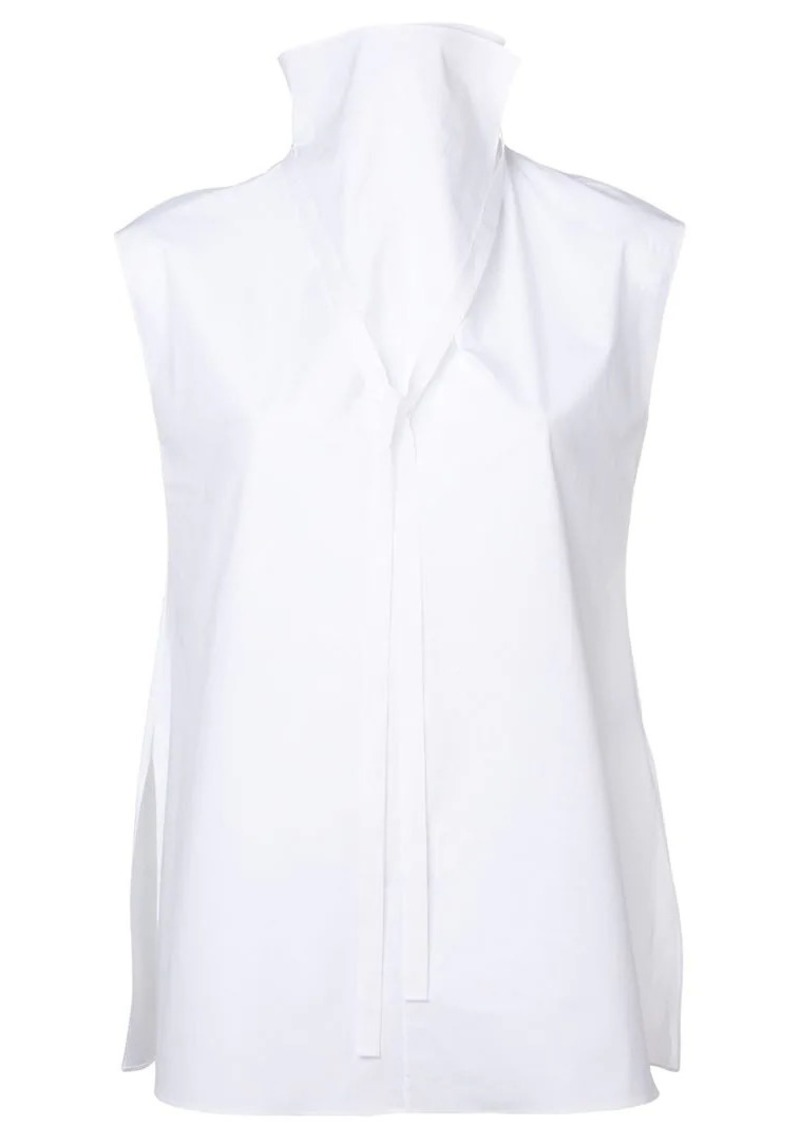 Theory high neck sleeveless blouse