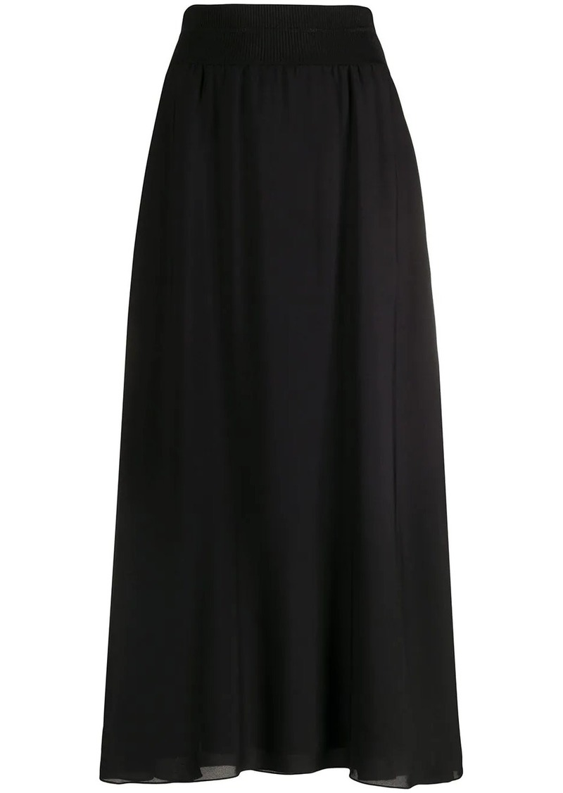 Theory high-rise flared skirt