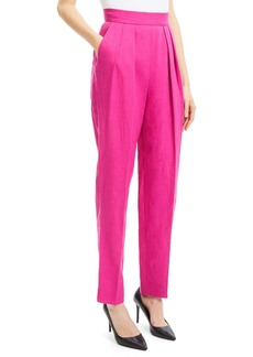 Theory High-Rise Pleated Pure Linen Pants