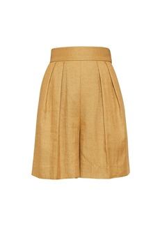 Theory High-Waist Pleat-Front Shorts