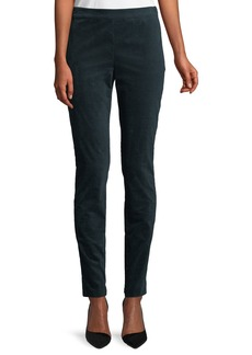 Theory High-Waist Skinny-Leg Oslo Corduroy Leggings