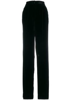 Theory high-waisted flared trousers