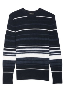 Theory Hilles Stripe Cashmere Sweater