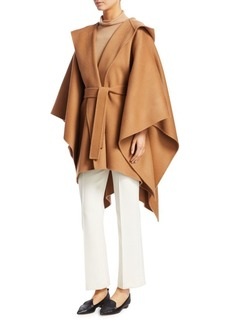 Theory Hooded Belted Poncho