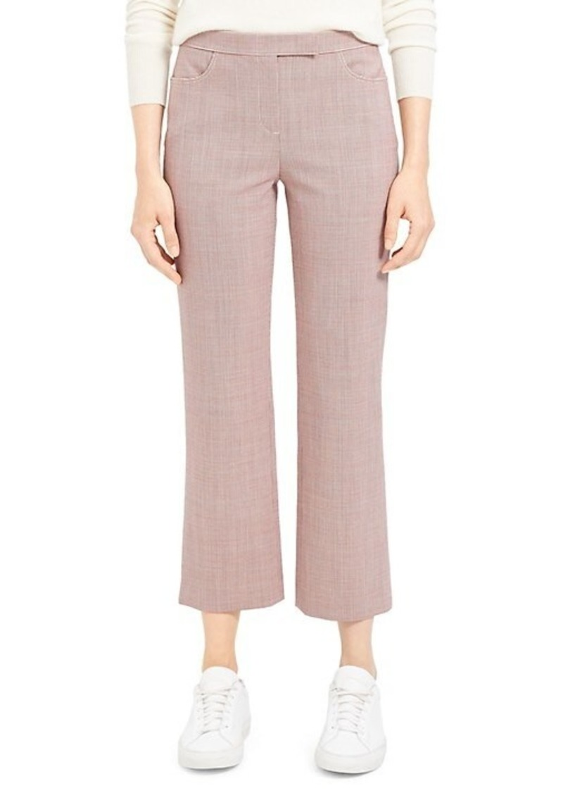 Theory Houndstooth Cropped Pants