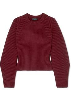Theory Huron Ribbed-knit Merino Wool Sweater