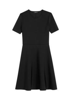 Theory Intarsia Fit-&-Flare Dress