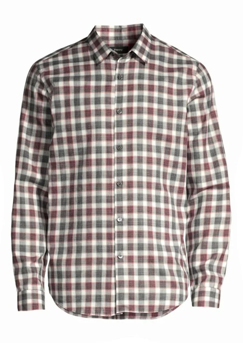 Theory Irving Betton Plaid Shirt