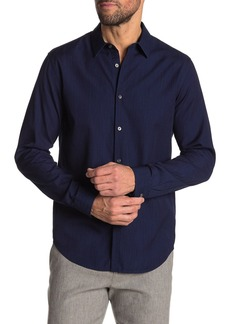 Theory Irving Canvas Long Sleeve Slim Fit Shirt