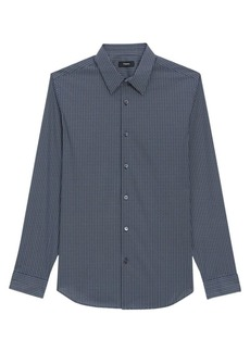Theory Irving Dash Print Dress Shirt