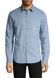 Theory Irving Essential Linen & Cotton Shirt