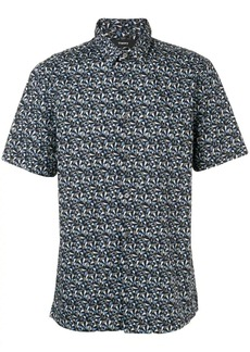 Theory Irving optic print shirt