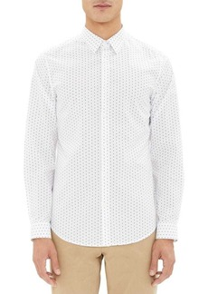 Theory Irving Polka-Dot Print Shirt