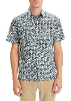 Theory Irving Slim Fit Angle Print Sport Shirt