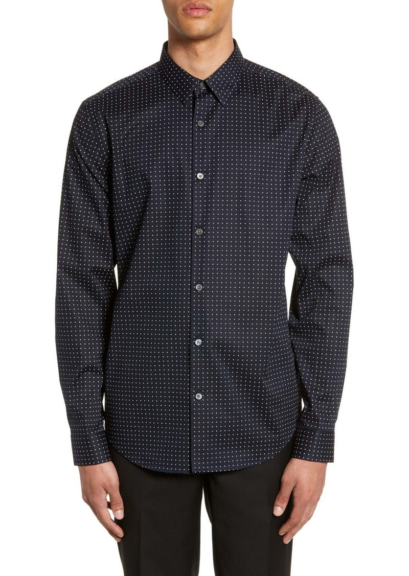 Theory Irving Slim Fit Dot Print Sport Shirt