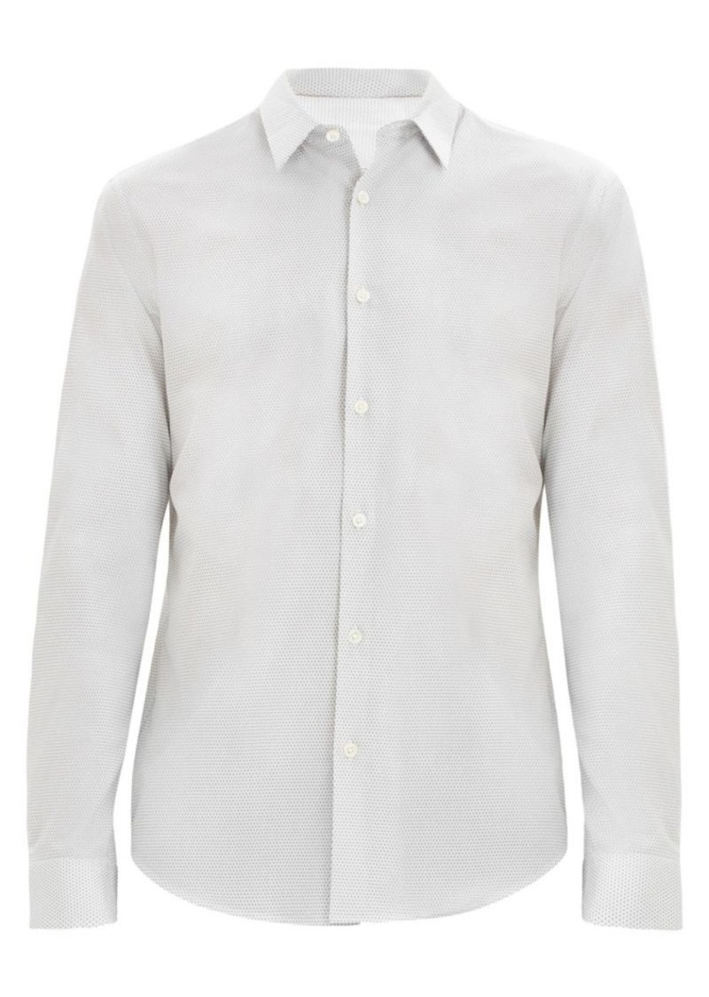 Theory Irving Slim-Fit Micro Dot Shirt