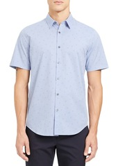 Theory Irving Slim Fit Short Sleeve Button-Up Shirt