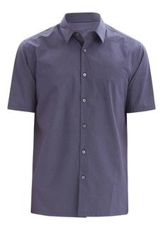 Theory Irving Standard-Fit Diamond Print Short-Sleeve Shirt